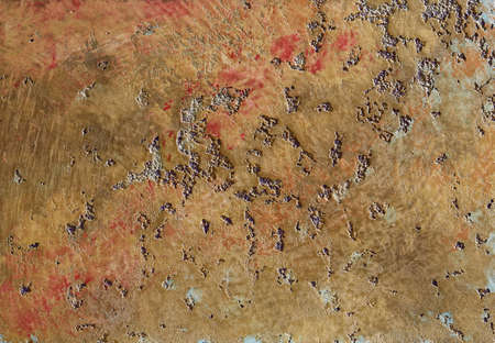 Highly detailed rough grunge texture background with vintage texture and space for your image, text or border frame. Texture of rustly metal background. Iron ore rust texture. Macro, close-up