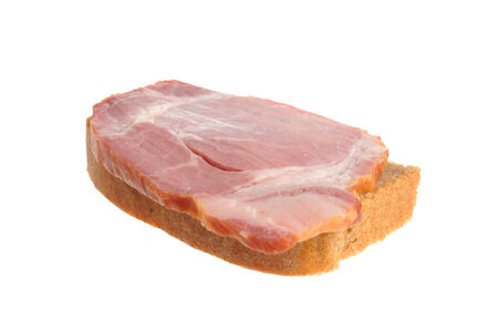 A ham sandwich isolated on white background photo