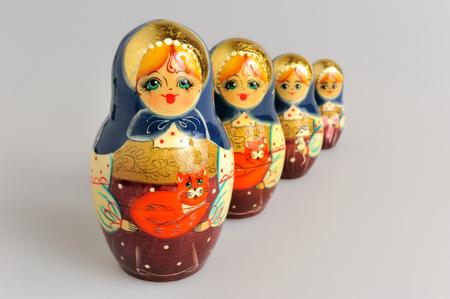 matroshka: Russian matryoshka on gray background
