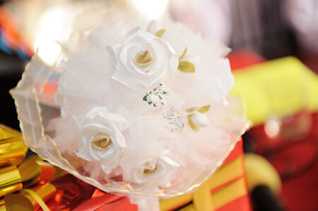 dubbing: Bridal bouquet Stock Photo