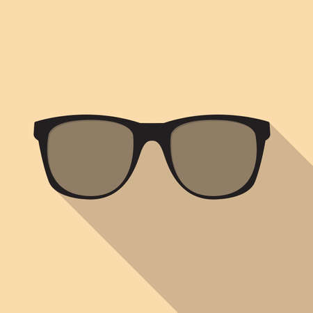 corrective: Glasses Icon. Vector illustration. Elements for Design. Glasses Icon on Yellow Background