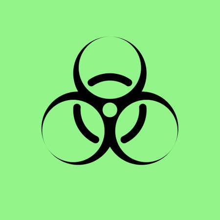contagious: biohazard icon vector