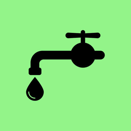 stopcock: Water tap vector icon
