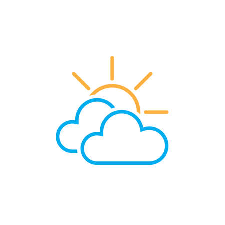 mostly: Mostly cloudy weather icon