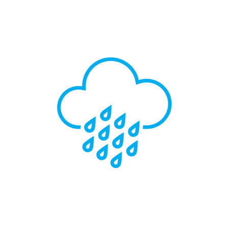 heavy rain: Heavy rain weather icon