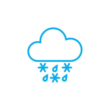 sleet: sleet weather icon