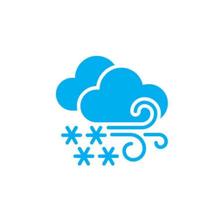 a blizzard: Blizzard weather icon