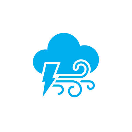 windy energy: Lightning and wind icon
