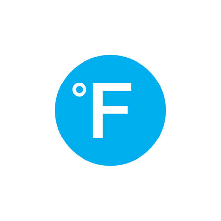 fahrenheit: Degree sign, Fahrenheit icon Illustration