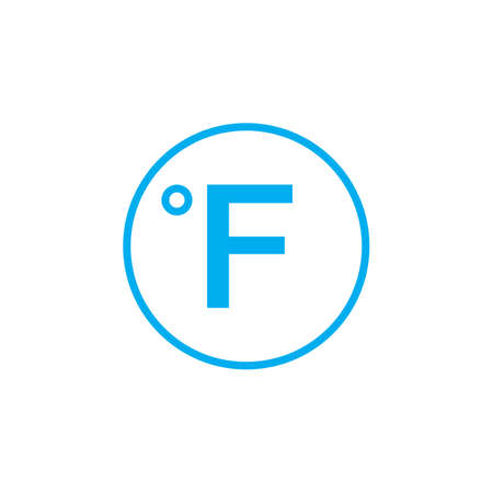 fahrenheit: Degree sign, Fahrenheit icon Illustration