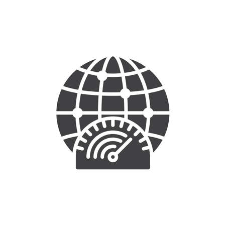 high speed internet: High speed internet connection icon vector, filled flat sign, solid pictogram isolated on white. Symbol, illustration