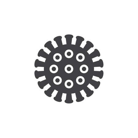 Coronavirus, virus icon vector, filled flat sign, solid pictogram isolated on white. Symbol, illustration