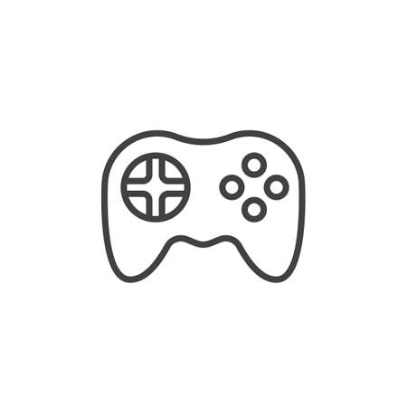 Video Game Symbol Gamepad Line Icon Outline Vector Sign Linear - Video game outline