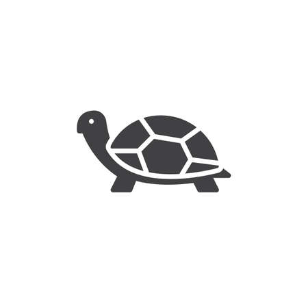 Turtle icon vector, filled flat sign, solid pictogram isolated on white. Symbol, logo illustration