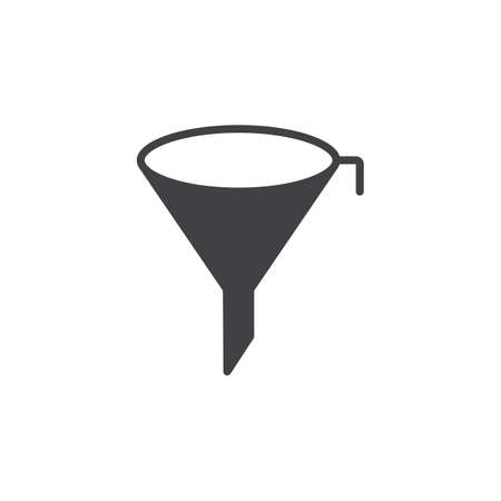 Filter symbol. Funnel icon vector, solid flat sign, pictogram isolated on white, logo illustration