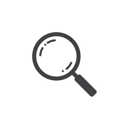 Search icon vector, magnifying glass solid logo illustration, pictogram isolated on white Illustration