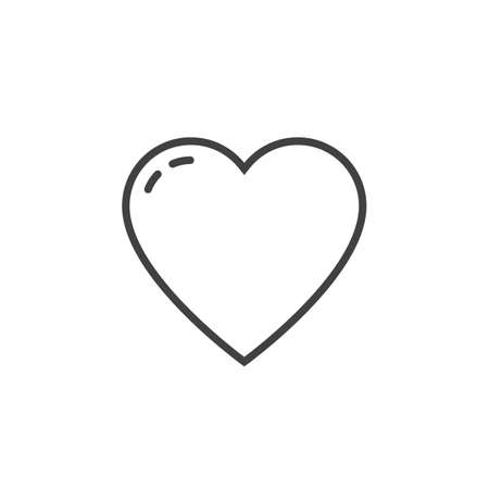 Outline Clipart Heart Line Love Pictures Picturesboss