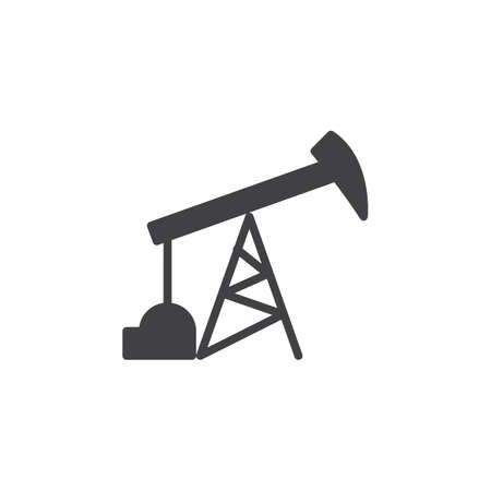 Oil pump icon vector, filled flat sign, solid pictogram isolated on white. Symbol, logo illustration. Pixel perfect Illustration