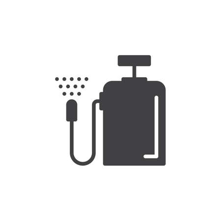 pulverizer: Pressure sprayer icon vector, filled flat sign, solid pictogram isolated on white. Symbol, logo illustration. Pixel perfect