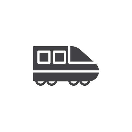 high speed train: Modern high speed train icon vector, filled flat sign, solid pictogram isolated on white. Symbol, logo illustration. Pixel perfect