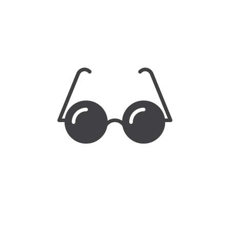 logo vector: Glasses icon vector, solid logo, pictogram isolated on white, pixel perfect illustration Illustration