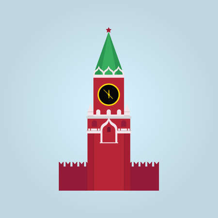 spasskaya tower vector illustration