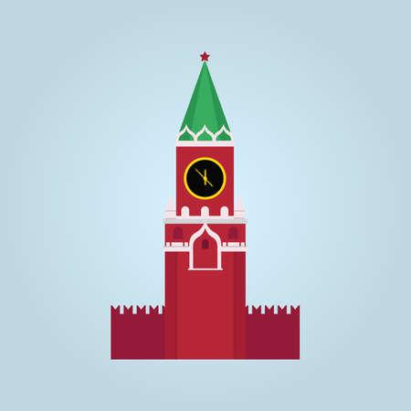 spasskaya tower vector illustration