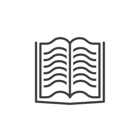 logo vector: Book line icon, outline vector logo, linear pictogram isolated on white, pixel perfect illustration Illustration