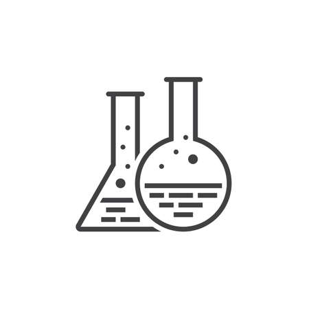 laboratory equipment: Chemistry flask line icon, lab outline vector logo, linear pictogram isolated on white, pixel perfect illustration