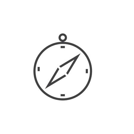 logo vector: Compass line icon, outline vector logo, linear pictogram isolated on white, pixel perfect illustration Illustration