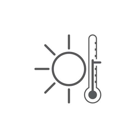 scale icon: Warm weather icon Illustration