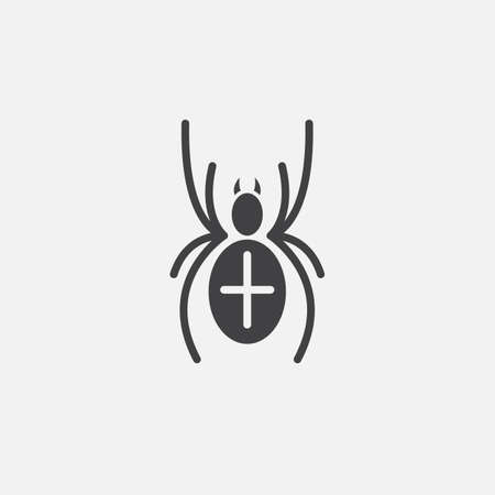 Spider icon Illustration