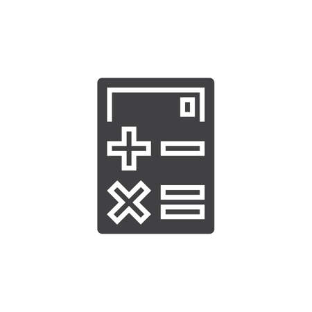 logo vector: Calculator icon vector, solid logo, pictogram isolated on white, pixel perfect illustration