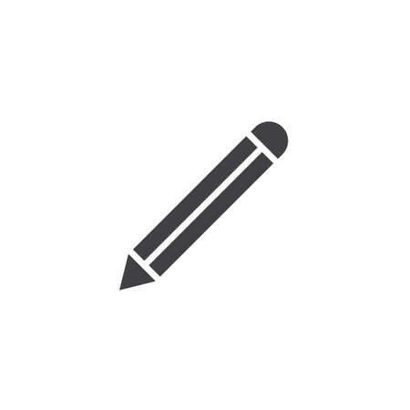 solid: pencil icon vector, solid logo, pictogram isolated on white, pixel perfect illustration
