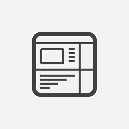 website buttons: Website icon Illustration
