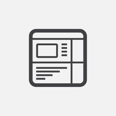 mobile website: Website icon Illustration