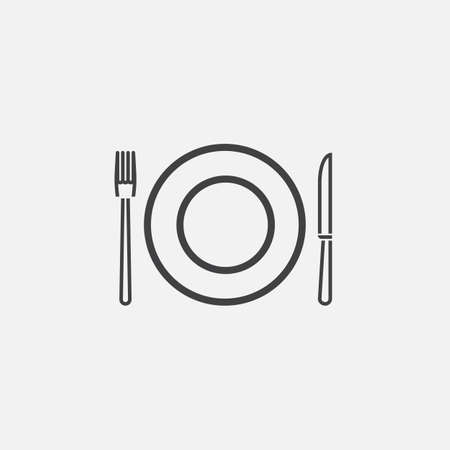 dishware: Dishware icon Illustration