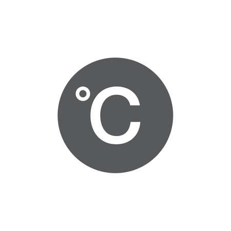 scale icon: Degree sign, celsius icon Illustration