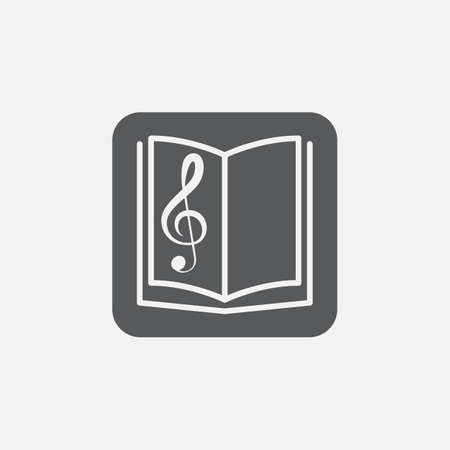notebook: Music book icon Illustration