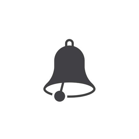 solid: Bell icon vector, solid logo, pictogram isolated on white, pixel perfect illustration
