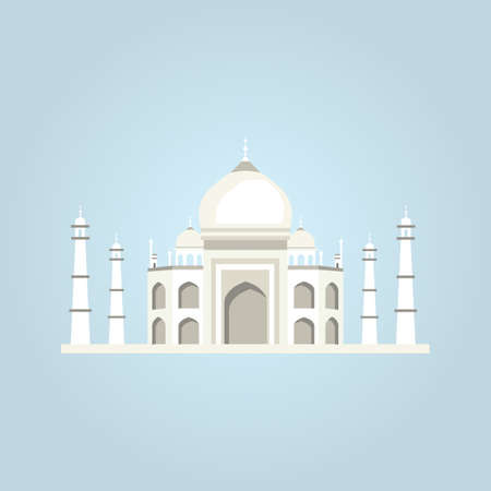 india culture: Taj Mahal vector illustration