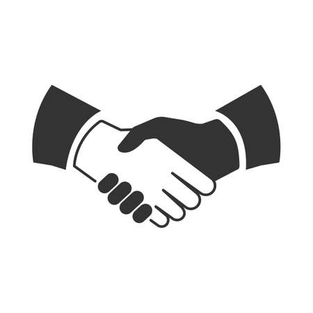 business meeting: handshake Icon Vector Illustration
