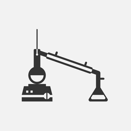 distillation: lab Icon Vector. distillation icon