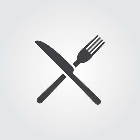 Fork and Knife Icon Illustration