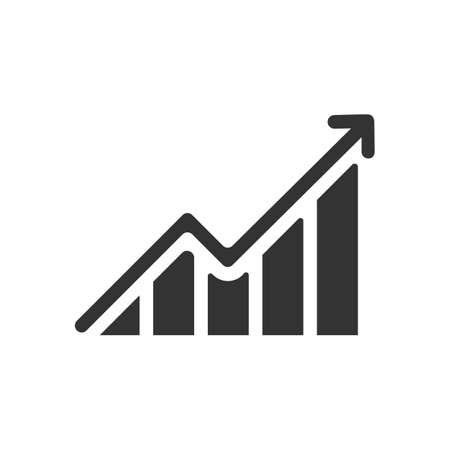 growing graph Icon Vector