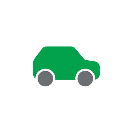 filled: Car, automobile colorful vector icon, filled flat sign, solid pictogram isolated on white. Symbol, logo illustration. Pixel perfect