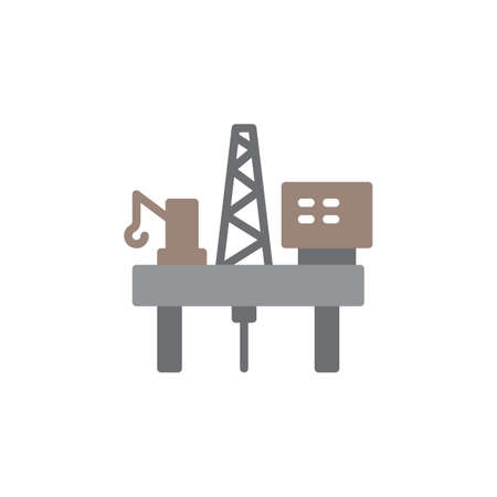 pixel perfect: Oil platform icon vector, filled flat sign, solid colorful pictogram isolated on white. Symbol, logo illustration. Pixel perfect