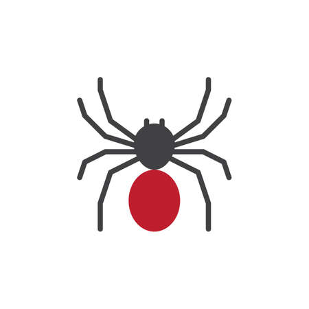 pixel perfect: Spider icon vector, filled flat sign, solid colorful pictogram isolated on white. Symbol, logo illustration. Pixel perfect