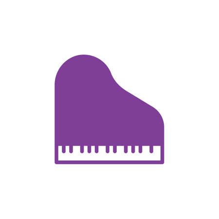 pixel perfect: Grand piano icon vector, filled flat sign, solid colorful pictogram isolated on white. Symbol, logo illustration. Pixel perfect Illustration