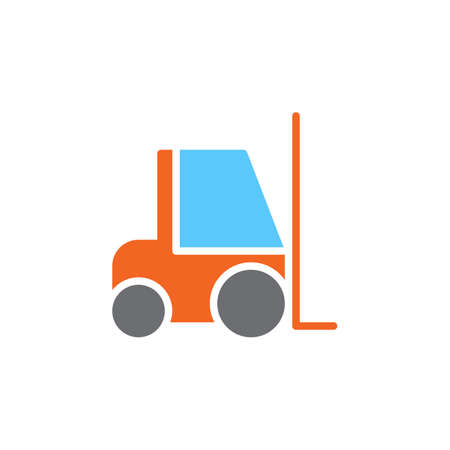 Forklift colorful vector icon, filled flat sign, solid pictogram isolated on white. Symbol, logo illustration. Pixel perfect Illustration